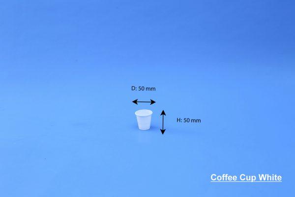 Coffee Cup 4 OZ White GhanPlast