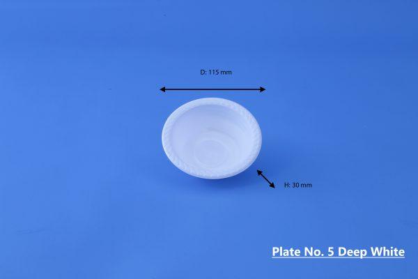 Plate No. 5 Deep White GhanPlast