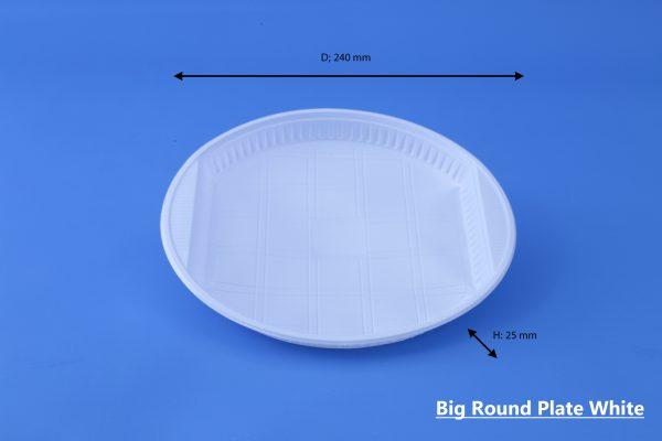 Big Round Plate White GhanPlast Plate No 26